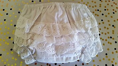 100% Cotton Baby nappy covers/Baby knickers Frilly pants. 3 sizes *NEW* FREEPOST