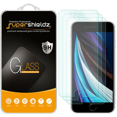 3X Supershieldz for Apple iPhone 8 Tempered Glass Screen Protector Saver