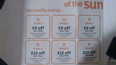 Sainsburys money off coupons vouchers worth £54 in-store or on-line