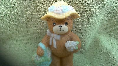 Lucy Riggs Bear With Bonnet And Flower Basket!!