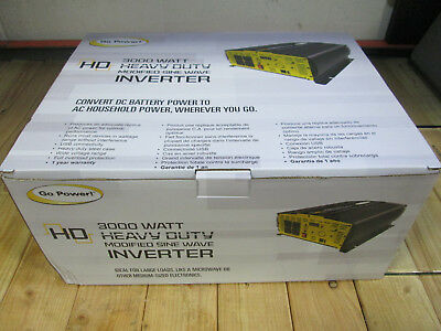 New Style GP-3000HD GoPower 3000 Watt 12 Volt Modified Sine Wave Inverter