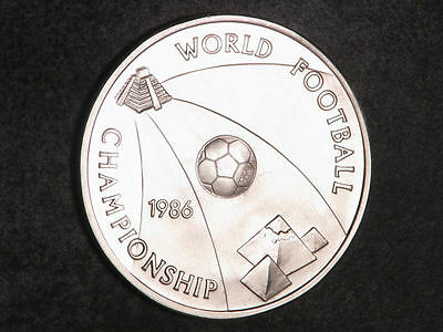 1986 Egypt, Silver Proof 5 Pounds, World Football Cup Mexico 86, BU