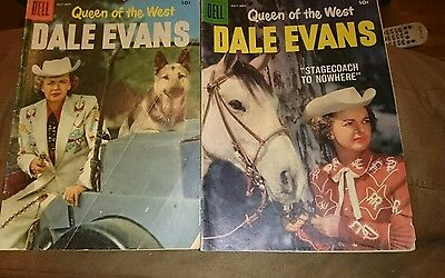 2 Queen of the West Dale Evans 12 strict vg/fn1956