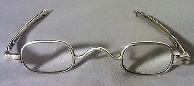 Antique Mcallister Eyeglasses Coin Silver Spectacles 19Th Century Sliding Arm