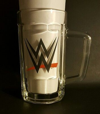 2014 WWE Wrestling Beveled Collectors Glass Beer Mug ~NEW ~NICE ~FREE SHIPPING!