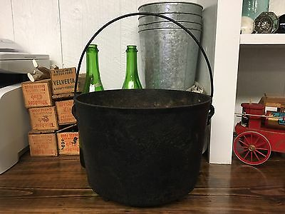 Antique Cast Iron Bean Pot #8  Three Legs