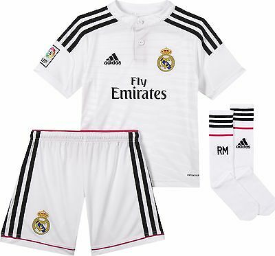 Youths adidas Real Madrid Full Kit with socks ( boxed ) age 13/14 years