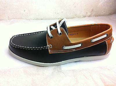 New Mens Formal Smart Casual Lace Up Boat Shoes Sizes 6 7 8 9 10 11 Black/Brown