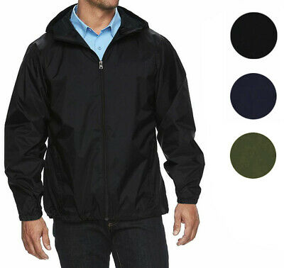 Maximos Men's Water Resistant Hooded Lightweight Windbreaker Rain Jacket Jasper