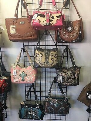 * BRAND NEW * LOT OF 11 Bling Concealed Carry Handbags & 4 Wallets!!