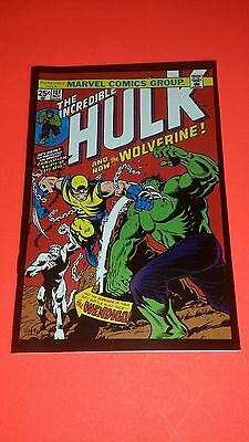 "HULK #181 MINI COMIC REPRINT ""1ST APPEARANCE OF WOLVERINE "" (43/4""x71/4) VF+/NM!"