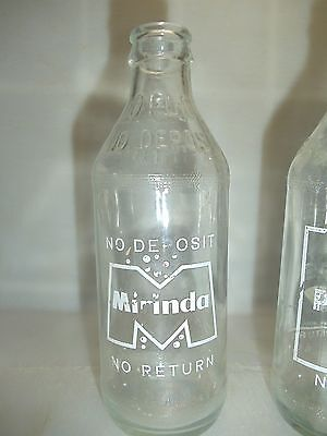 Pepsi Cola & Mirinda  Aussie One Way Trippers   Crown Seal Bottles  Rare