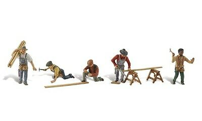 Carpenter Crew & Accessories HO - Model Train Layout - Fully painted & assembled