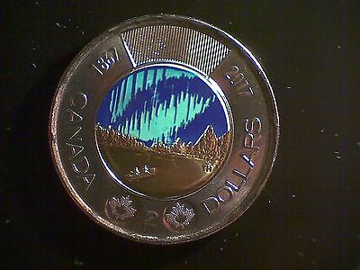 2017 Canada Special Edition $2 Dollars Glow-in-the-Dark Coin
