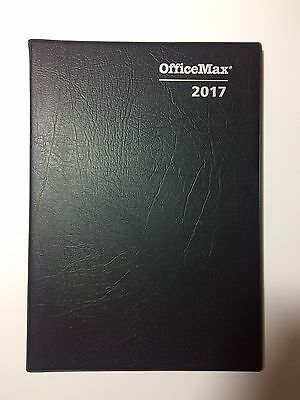 OfficeMax 2017 Diary A4 Week to an Opening A43 Diary Hard Cover Black