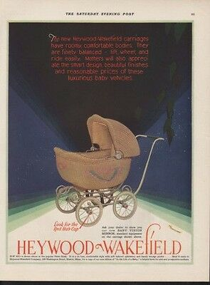 1920 Heywood Wakefield  Baby Carriage Stroller Child  Ad 10719