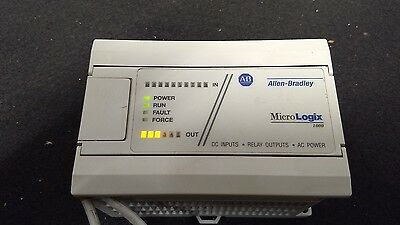 Allen Bradley MicroLogix 1000 Controller 1761-L16BWA/E, Very Nice Used Tested