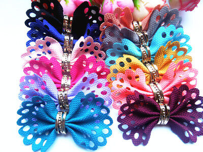 New 10PCS Pet Hair Clips Dog Hair Bows Pet Dog Grooming Hair Clips Accessories
