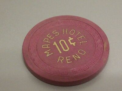 $4.99 chip sale Mapes Hotel Reno NV  10-cent small key casino chip