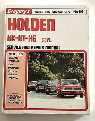 Holden Hk-Ht-Hg 6 Cyl Gregory's Service And Repair Manual