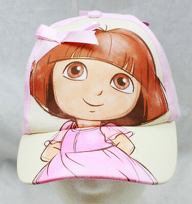 Baseball Cap - Dora the Explorer - Sketch/Bow Pink (Youth/Kids) New Hat