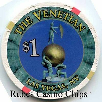 1.00 Chip from the Venetian Casino in Las Vegas Nevada Large Inlay