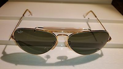 Rare Vintage NOS B&L RAYBAN Outdoorsman Changeable 58[]14 Sunglasses Gold Plated