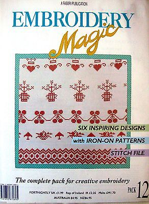 EMBROIDERY MAGIC No.12 - 6 Designs with Iron-on Patterns Creative Embroidery VGC