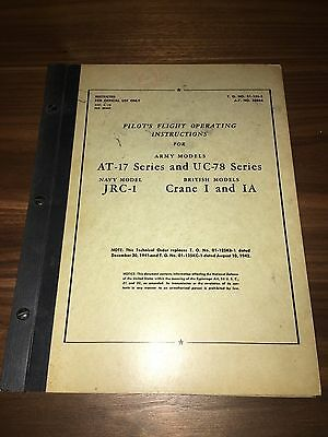 Cessna AT-17 Bobcat UC-78 JRC-1 Crane 1/1A Pilots Flight Operating Handbook 42