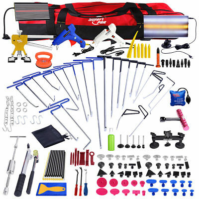 125× Paintless Hail Repair PDR Tools Push Rods Dent Puller Lifter Removal Kits