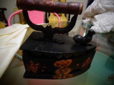 Collectable Cast Iron With Rooster Latch And Wooden Handle
