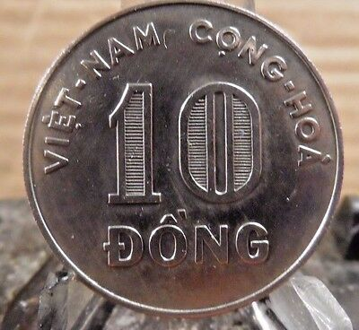 Circulated 1964 10 Dong Viet Nam Coin (71917)1.....free Shipping!!!!!