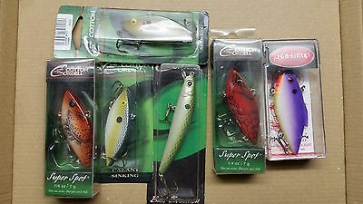 6 x LURES - COTTON CORDELL AND RAT-L-TRAP