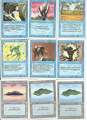 Magic the Gathering Revised Edition common blue and land pack 2