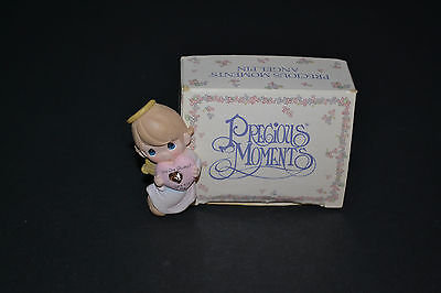"""Precious Moments-""""you Are Always There For Me"""" Angel Pin/brooch 1999 Avon"""