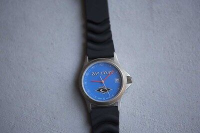 Rip Curl Men's Watch vintage blue face retro surf NEW BATTERY & NEW BAND working