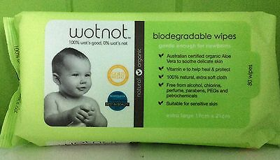 Wotnot Baby Wipes - 80 Pack | Natural  | Wot Not | 15% off 2+ baby range items