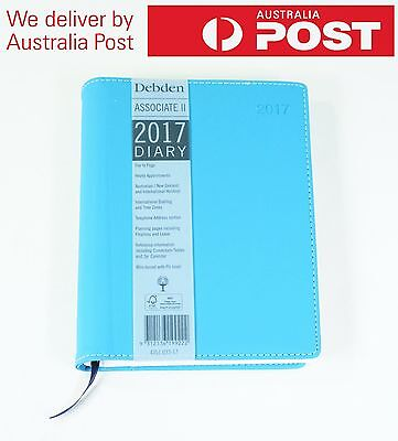 Debden 2017 Diary Associate II A5 Day to Page PU Cover 4351.U33-17 BLUE