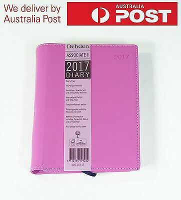 Debden 2017 Diary Associate II A5 Day to Page PU Cover 4351.U33-17 PINK