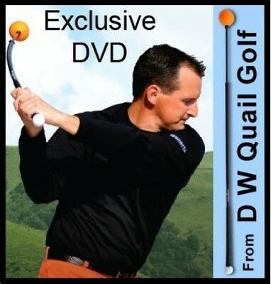 Deluxe Orange Whip Golden Golf Swing Trainer Package Exclusive Training &