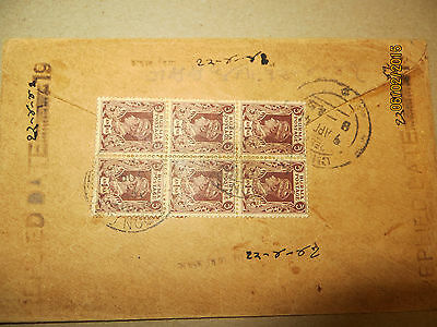 1941 Brief Airmail Rangoon( Burma ) to Churu  Indien----Ganzsache