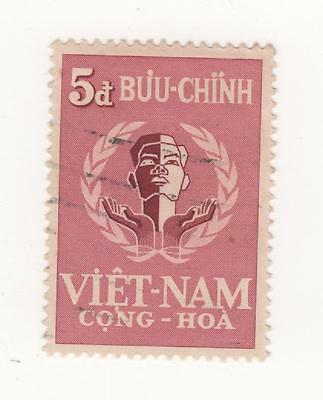 1958 South VIETNAM UNITED NATIONS 6d. PURPLE. SG#S66 USED