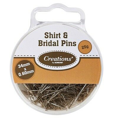 Korbond Creations - Shirt & Bridal Pins - 34mmx0.6mm - 25g pk