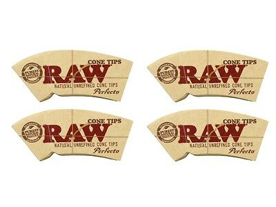 RAW Perfecto Rolling Paper Cone Tips Filter Spacer - 4 Packs