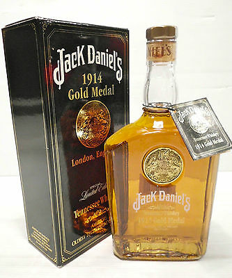 Jack Daniels 1914 Gold Medal Tennessee Whiskey 750ml 45% Box & unregisteredTag
