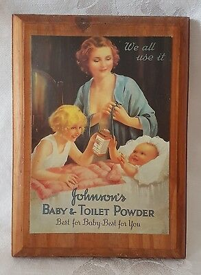 Vintage Johnson's Baby Powder Wall Sign