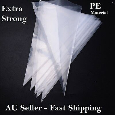 Extra Strong Large PE Plastic Disposable Piping Pastry Bags Icing Decorating 16'
