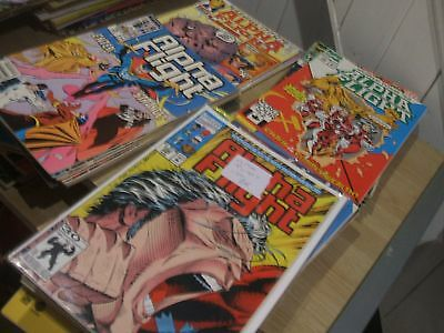 alpha flight  80 issues all read condition,  a lot of comics