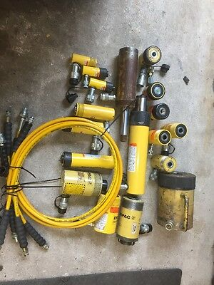 18 Enerpac  Hydraulic Cylinders And  3 Hose