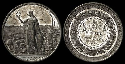 AUSTRALIA 1872 Opening of the Victorian Exhibition medal.
